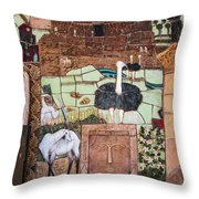 Mosaic Of The Holy Land Throw Pillow