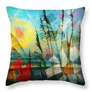 Mosaic Sea Oats Throw Pillow