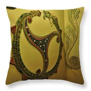 Mosaic Serpent Throw Pillow