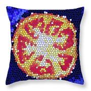 Mosaic Tomato Throw Pillow
