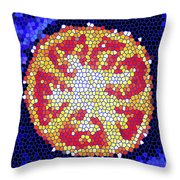 Mosaic Tomato Throw Pillow
