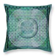 Mosaicea In Blue Throw Pillow