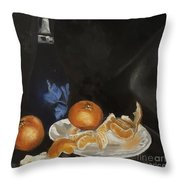 Moscato And Tangerines Throw Pillow