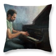 Mosci At The Piano Throw Pillow