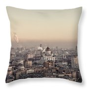 Moscow At Dusk Throw Pillow