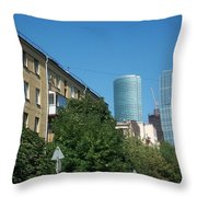 Moscow Business Centre Throw Pillow