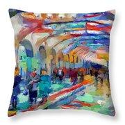 Moscow Metro Station Throw Pillow