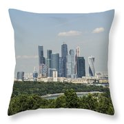 Moscow Skyline Throw Pillow by Atul Daimari