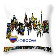 Moscow Skylines Throw Pillow