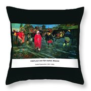 Moscow Street Of 17th Century Throw Pillow