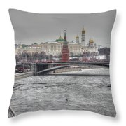 Moscow Winter Look Throw Pillow