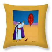 Moses And The Burning Bush Throw Pillow