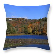 Moses Cone Manor House And Bass Lake Throw Pillow