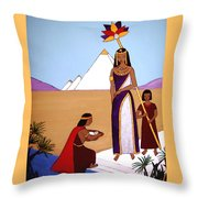 Moses In The Bullrushes Throw Pillow