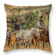 Moseying Along Throw Pillow