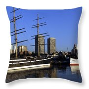 Moshulu And The City Throw Pillow