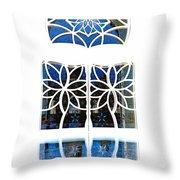 Mosque Foyer Window 1 White Throw Pillow