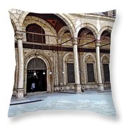 Mosque Of Muhammad Ali Entrance Throw Pillow