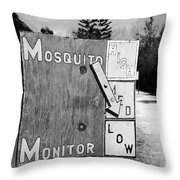 Mosquito Monitor Throw Pillow