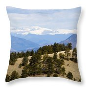 Mosquito Range Mountains From Bald Mountain Colorado Throw Pillow