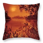 Mosquito Sunset Throw Pillow