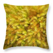 Moss Abstract Throw Pillow
