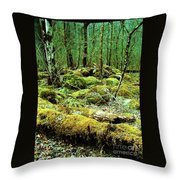 Moss Consuming The Forest Throw Pillow