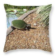 Moss Covered Turtle Throw Pillow