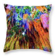 moss of Color Throw Pillow