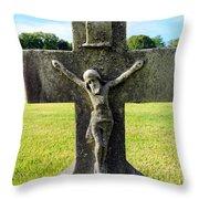 Moss On Cross Throw Pillow