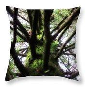 Moss Tree Throw Pillow