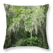 Mossy Branches Throw Pillow