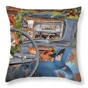 Mossy Datsun Throw Pillow