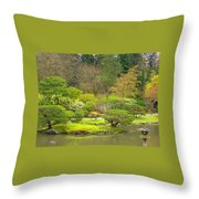 Mossy Garden Throw Pillow
