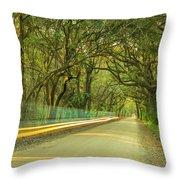 Mossy Oaks Canopy In South Carolina Throw Pillow