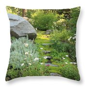 Mossy Path In Tahoe Throw Pillow