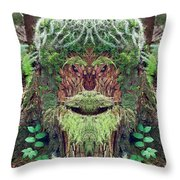 Mossman Tree Stump Throw Pillow
