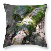 Mossy Tree Throw Pillow