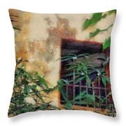 Mossy Wall Throw Pillow