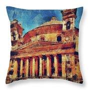 Mosta Church Throw Pillow