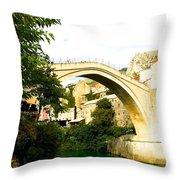 Mostar, Bosnia Throw Pillow