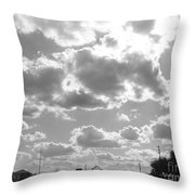 Mostly Cloudy Throw Pillow