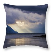 Mostly Cloudy With A Few Sunbreaks Throw Pillow