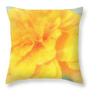Mostly Yellow Throw Pillow
