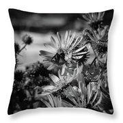 Moth And Flowers Throw Pillow