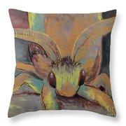 Moth Of Little Green Throw Pillow