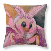 Moth Of Pink Throw Pillow