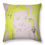 Mother And Baby Throw Pillow