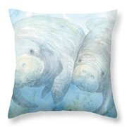 Mother And Calf Throw Pillow