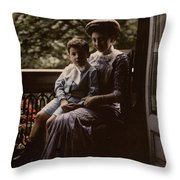 Mother And Child. Johannes Hendrikus Antonius Maria Lutz, 1907 - 1916 Throw Pillow